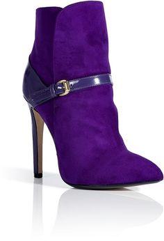 (LOP) Emilio Pucci Violet Patent/suede Ankle Boots in Purple (violet) - Lyst Suede Ankle Boots, Heeled Boots, Bootie Boots, Shoe Boots, Ankle Booties, Emilio Pucci, Purple Boots, Purple Fashion, Fashion Boots