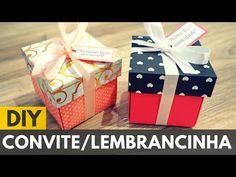 Caixinha para convite ou lembrancinha de aniversário |DIY - Faça você mesmo - YouTube