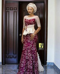 Fashionable, Stylish, and Exquisite Ankara Styles! Checkout How Fashionistas Are Rocking Their Amazing Pieces - Wedding Digest Naija African Lace Dresses, Latest African Fashion Dresses, African Dresses For Women, Ankara Fashion, African Wedding Attire, African Attire, African Wear, African Inspired Fashion, African Print Fashion