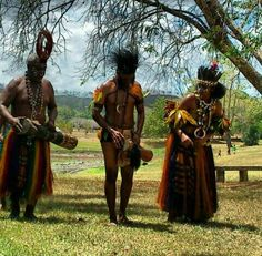 Traditional Gulf dancer from Papua New Guinea
