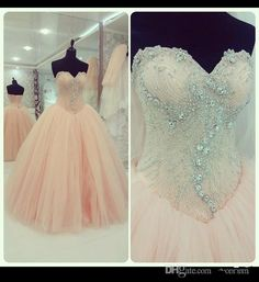 Luxury Crystal Quinceanera Dresses Sweetheart Beading Ruched Ball Gown Full Length Lace Up Back Tulle Vestidos De 15 Anos 2015