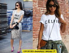 DIY INSPIRATION | Graphic Word T