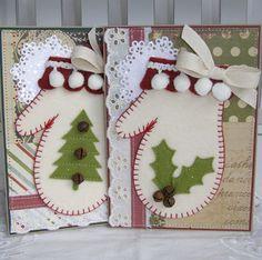 Christmas Mitten card http://www.annette-paperbistro.blogspot.com/2012/11/holiday-season.html