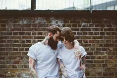 Withe t-shirt, love and tattoo