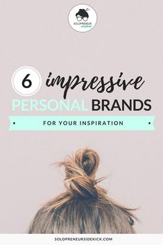 Check out these 6 Impressive Personal Brands for Your Inspiration by Solopreneur Sidekick. I wanted to share with you 6 very different and inspiring personal brands so that you could see just how unique your brand can be. Learn how to DIY your brand and b Personal Branding, Social Media Branding, Branding Your Business, Creative Business, Corporate Branding, Personal Logo, Business Tips, Logo Branding, Personal Image