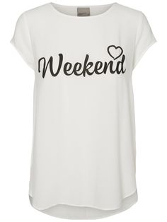 We love weekends! T-skirt from VERO MODA.