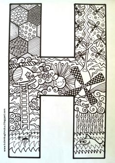 Boyama sayfası Coloring Letters, Alphabet Coloring Pages, Coloring Sheets, Coloring Books, Easy Coloring Pages, Disney Coloring Pages, Pink Panter, Doodle Art Drawing, Printable Letters