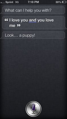 Siri has commitment issues...