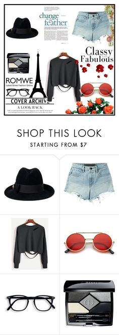 """""""ROMWE"""" by velci-987 ❤ liked on Polyvore featuring Gucci, T By Alexander Wang, ZeroUV and Christian Dior"""