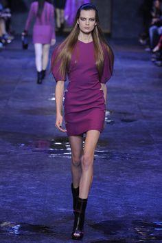 Fab in purple. Versus RTW Fall 2012 - Milan. Photo by Giovanni Giannoni (WWD)