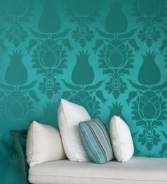 1000 images about bedroom ideas on pinterest gray for Turquoise wallpaper for bedroom