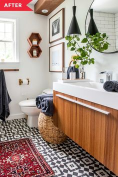 Before and After: An 'Old and Messy' Bathroom Becomes a Sleek, New Spa - The 8 Most Useful Things You Can Add to Your Entryway, According to Designers Acrylic Tub, Budget Remodel, Diy Flooring, Interior, Cement Tile Shop, Beautiful Bathrooms, Home Financing, Spa Like Bathroom, Bathroom