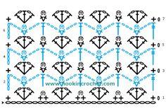 Crochet Pattern Program : Open Shell and Picot Stitch Design Crochet Chart Pattern ...