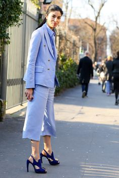 MFW Street Style Day Five: Caroline Issa is a master of tone-on-tone color play.