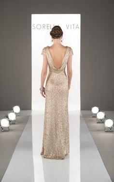 Sorella Vita's modern metallic bridesmaid dress now available at The Bridal Boutique by MaeMe. 504.266.2771