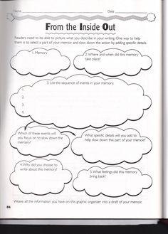 memoir graphic organizer | Personal Memoir Writing Assignment.pdf