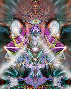 Divinitory Morphing Tapestry by Luke Brown, Psychedelic art