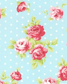 Lulu Roses - Polka Dot Floral - Robin's Egg Blue
