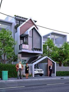 Ideas For Exterior Facade Design Cities Arch House, D House, Facade House, House Front Design, Modern House Design, Facade Architecture, Residential Architecture, Facade Design, Exterior Design