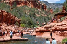 Slide Rock State Park - Sedona We had a great time here ....wasnt as crowded as this