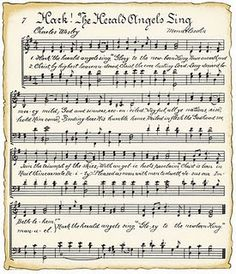 Free printable sheet music with a vintage look