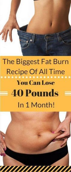 THE BIGGEST FAT BURN RECIPE OF ALL TIME YOU CAN LOSE 40 POUND IN 1 MONTH! – Healthy Tips Help