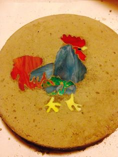 Rooster Stepping Stone on Etsy, $15.00 Garden Stones, Stepping Stones, Rooster, Gardening, Plates, Unique Jewelry, Tableware, Handmade Gifts, Crafts
