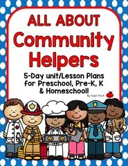 PreSchool and Pre-k Lesson plan!  Just print, prep and you're ready for a fun week of Community Helper fun!