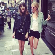 Alexa Chung. I like both looks acutally