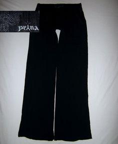 prAna Women's Casual Pant Relaxed Drawstring Waistband Adventure Travel S BLACK #prAna #PantsTightsLeggings