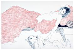 New York artist Hope Gangloff works predominantly with pen and ink on paper, using reference photographs she takes of her friends. Description from pinterest.com. I searched for this on bing.com/images