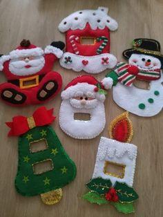 Adornos para la navidad #navidad #fieltro #muñecos #manuscreativa