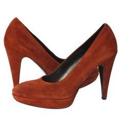 Pantofi cu toc S.Oliver caramizii Pumps, Heels, Burnt Orange, Casual, Fashion, Heel, Moda, Fashion Styles, Pumps Heels