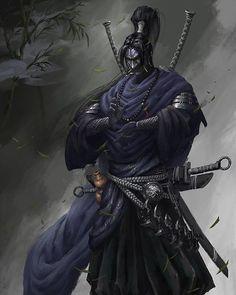 Martial samurai art by Xiaojian Liu