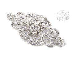 Wedding brooch Rhinestone brooch adornment Sash by PureRainDesigns, $20.00