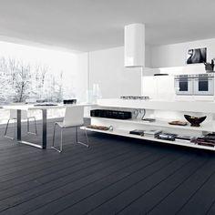 wooden floor dark gray designer kitchen lucrezia of cesar