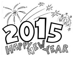 2015 Happy New Year Coloring Page - Freebie! New Year Coloring Pages, Celebration Day, Adult Coloring, Coloring Sheets, Holiday Themes, Winter Holidays, Sunday School, Happy New Year, Kindergarten