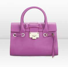 Jimmy Choo | Rosalie S | Orchid Grainy Calf Leather Handbag | JIMMYCHOO.COM