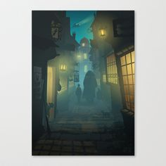 Buy Diagon Alley by Ape Meets Girl as a high quality Canvas Print. Worldwide shipping available at Society6.com. Just one of millions of products…