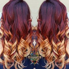 Hair Color How To: Fire Ombré by Kasey O'Hara Skrobe