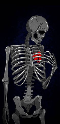 Heart Broken Skeleton iPhone Wallpaper - iPhone Wallpapers