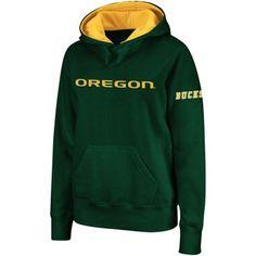 Women's Oregon Ducks Green Big Logo Pullover Hoodie