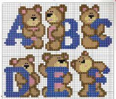 Teddy alphabet pattern (A-F)