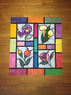 "I would love to make a ""stained glass"" window. Love the colors!"