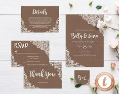 INSTANT DOWNLOAD Wedding Invitation Template Printable