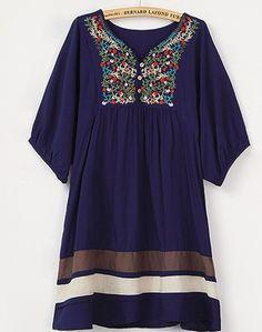 Aliexpress.com: Compre Nova primavera e verão 2014 vestido roupas femininas plus size vestido das mulheres vestido ocasional vestido bordado grátis frete de confiança níveis de vestido fornecedores em yiyi clothing brand