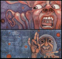 King Crimson - In the Court of the Crimson King   Outer and Inner Covers.