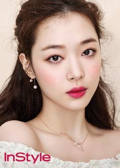 Choi Jin-ri (Sulli) former member of F(x) on We Heart It Sulli Choi, Choi Jin, Bridal Updo, Bridal Makeup, Korean Wedding Makeup, Asian Makeup Before And After, Asian Makeup Tutorials, Asian Makeup Looks, Korean Make Up