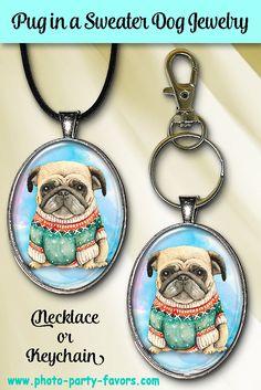 Dog Jewelry, Glass Jewelry, Jewelry Gifts, Dog Lover Gifts, Dog Gifts, Dog Lovers, Pug Dogs, Puppies, Dog Necklace