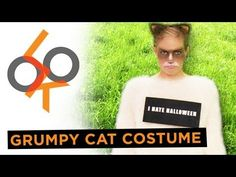 DIY Grumpy Cat costume (frown and all!)